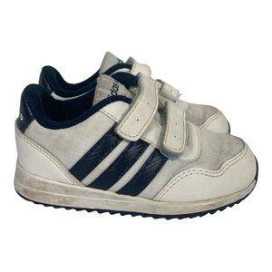 Adidas Kids Sneakers Size US6k White Velcro 3 Stripes Boys Shoes Toddler Size